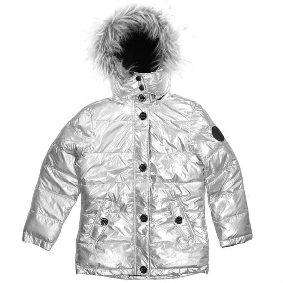 892050aefb2 Diesel Jackets & Coats | Girls Hooded Silver Winter Jacket | Poshmark